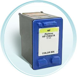 Color Inkjet Cartridge compatible with the HP (HP57) C6657AN