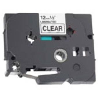 Brother Compatible TZe-131 P-Touch Label Tape  1/2 Black on Clear